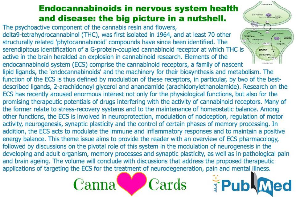 Endocannabinoids in nervous system health and disease- the big picture in a nutshell.