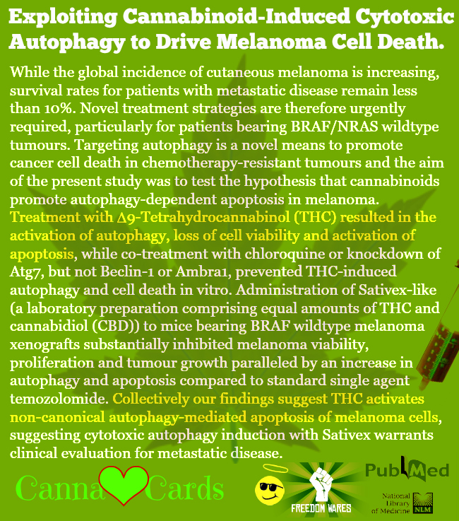 Exploiting Cannabinoid-Induced Cytotoxic Autophagy to Drive Melanoma Cell Death