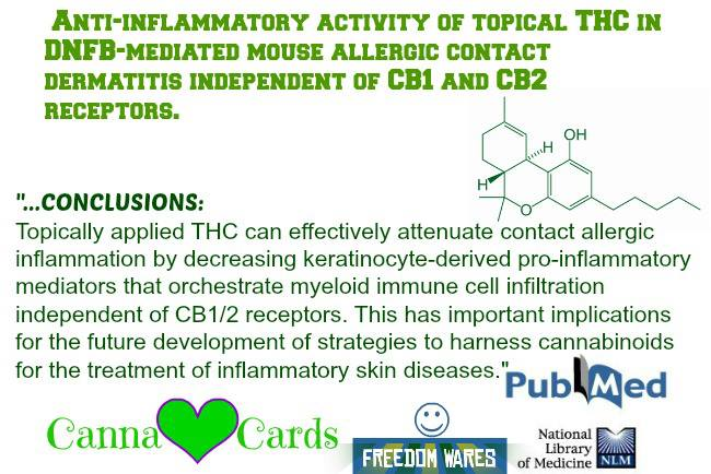 anti inflammatory cb1 cb2 topically applied T